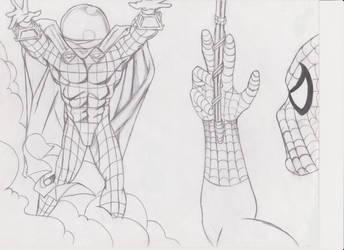 Spiderman Drawing by hathor422