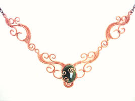 copper lace necklace by pikabee