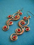 Red Vine Earrings