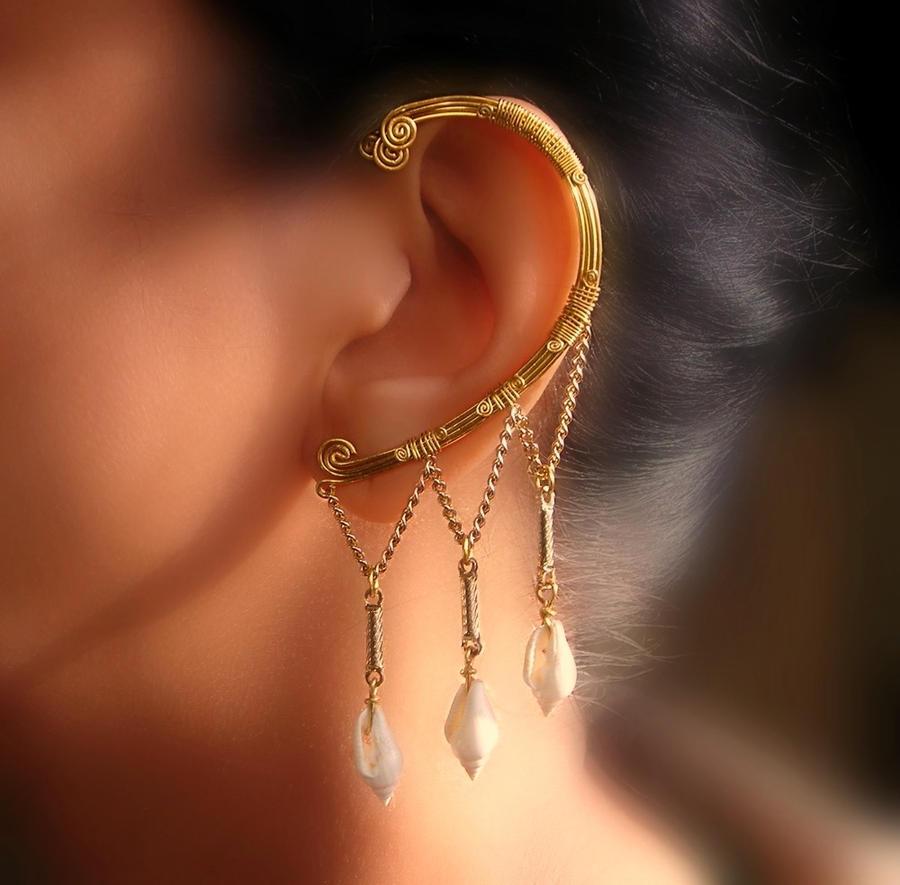 Siren Ear Wrap By Pikabee Egyptian Earrings By Pikabee On Deviantart
