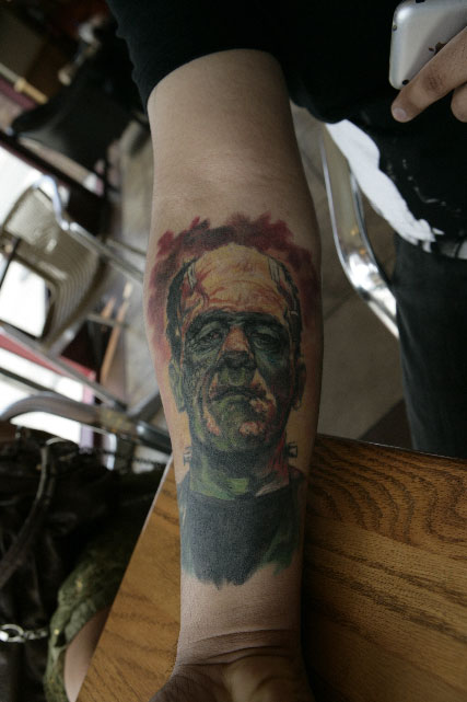 Frankenstein tattoo by johndevilman