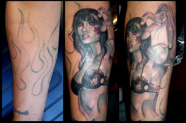 Zombie Girl Coverup by johndevilman