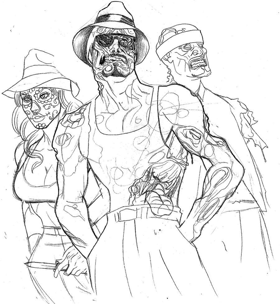 Cholo Art Drawings Zombie cholos by johndevilman