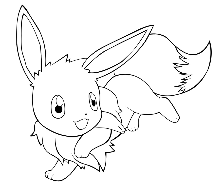 Line Art How To : Cg eevee line art by garicosdesign on deviantart