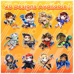 Overwatch Chibi Charms (part 1) by Kittybaka-chan