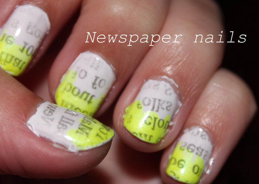 Newspaper Nails by magicbananas on DeviantArt