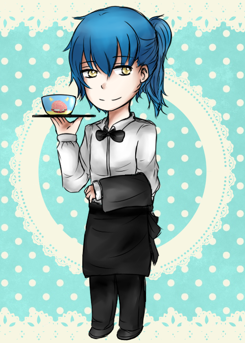 Waiter Aoba by angiecake66