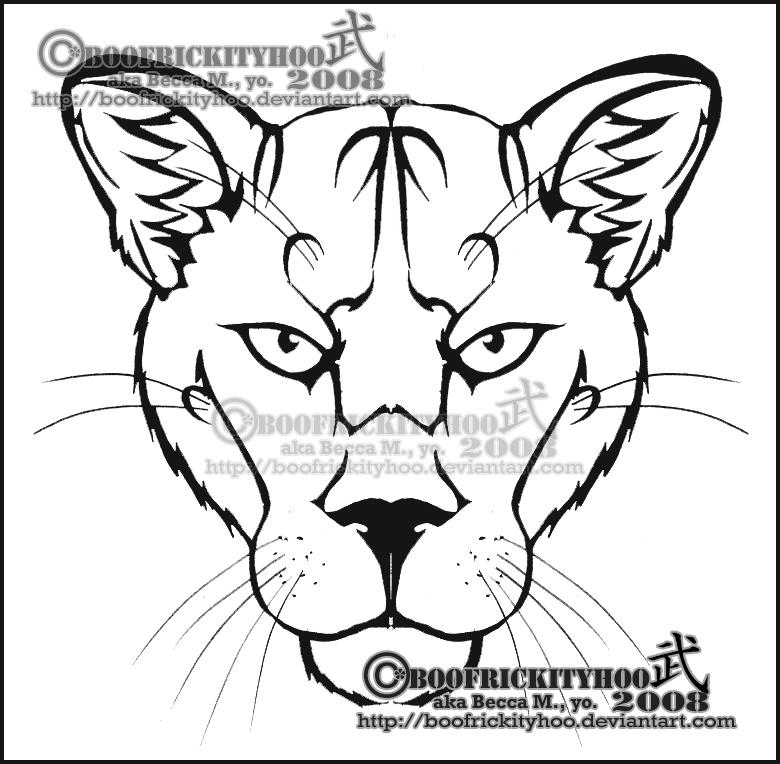 Tribal Mountain Tattoo Mountain Lion Tribal by