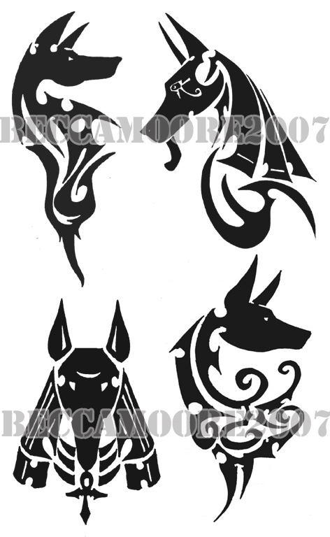 Jackal Head Tattoo Tribal Collektion- Jackals by