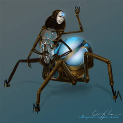 Steampunk Spider...Drider...Android. Thing. by Silkspinner