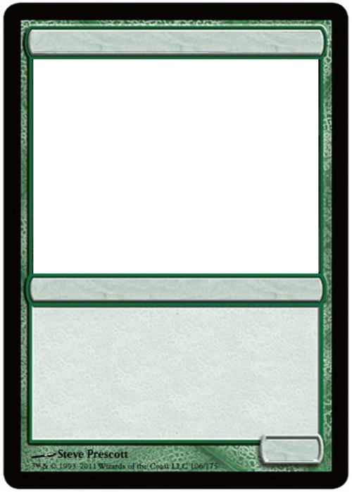 MTG Blank green card. by GrowlyDave on DeviantArt