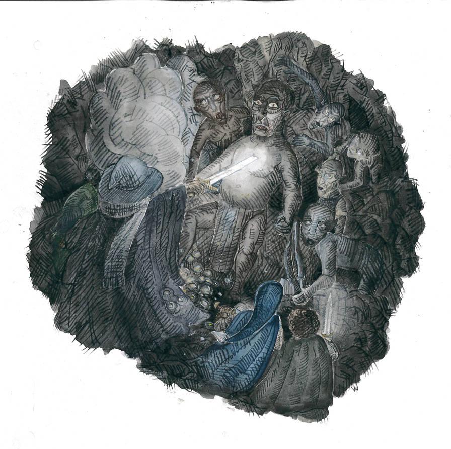 Gandalf in the Caves by Attiris-V