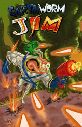 Earthworm Jim Fanart by GlenMiles