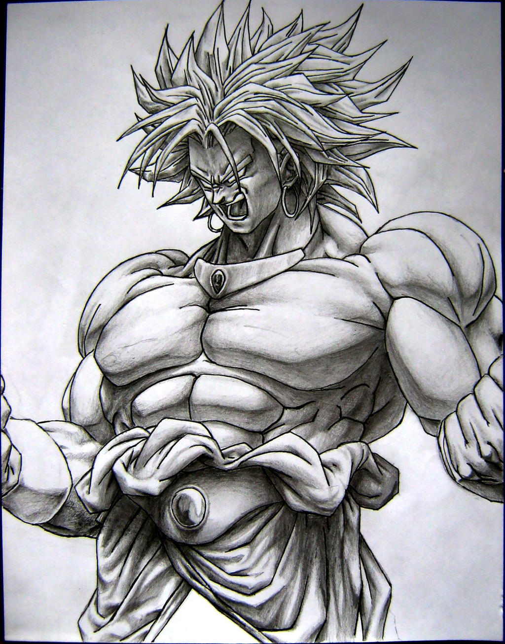Broly the super saiyan by TicoDrawing on DeviantArt