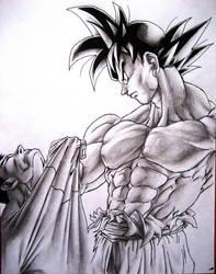 Goku vs Superman by TicoDrawing