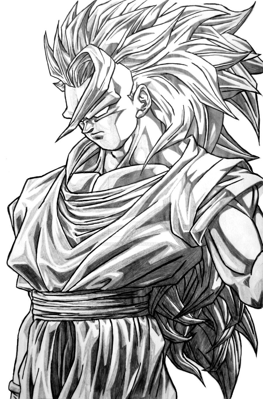 Goku Super Saiyan 3 By TicoDrawing On DeviantArt