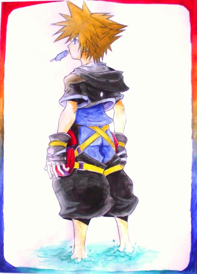 Sora - Kingdom Hearts 2 by TicoDrawing