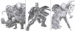 Venom, Batman and Tetsuo Shima