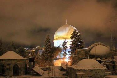 Al-Qud'a Under Snow