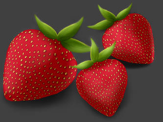 Texture Study: Strawberries by birds-on-a-wire