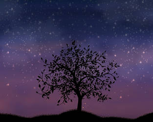 Fireflies by birds-on-a-wire