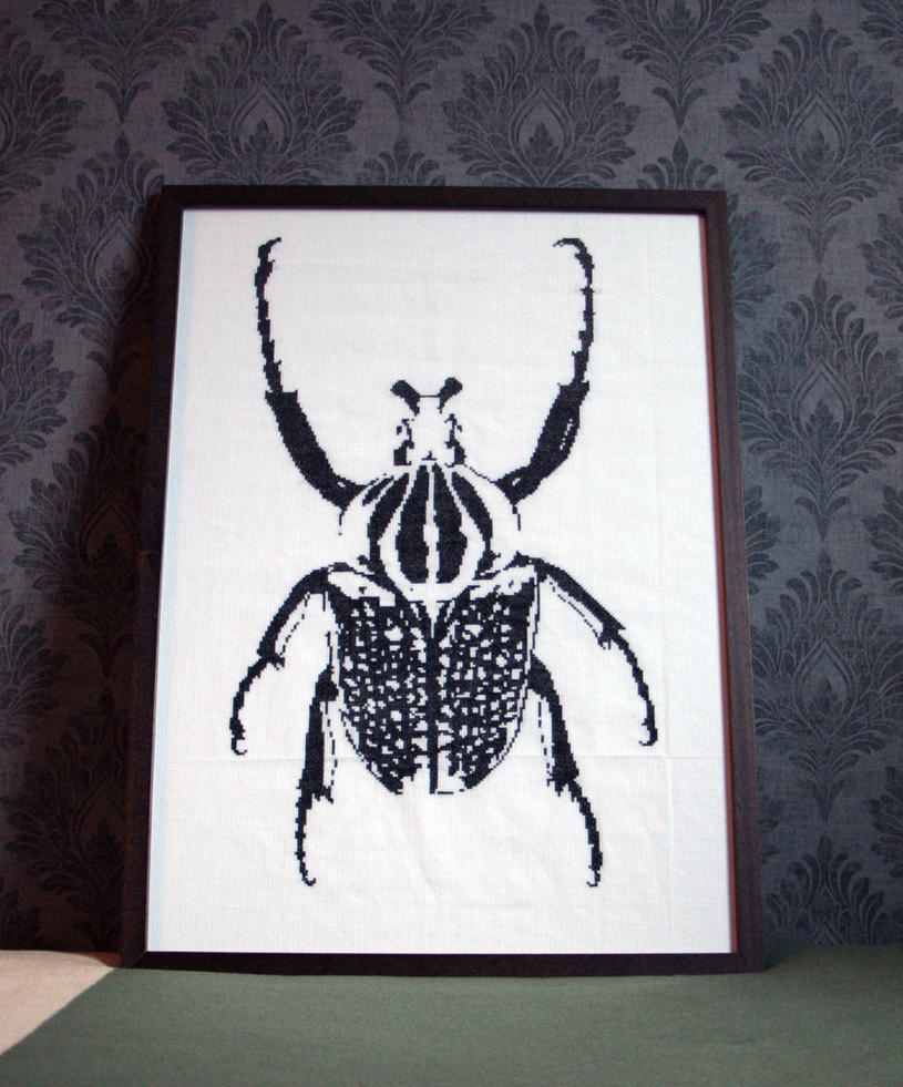 Goliathus Orientalis - Cross Stitch by 47X