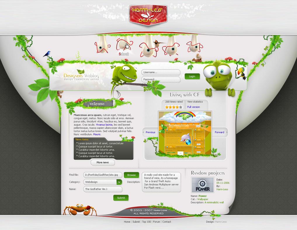 Designers Weblog by Harm-Less