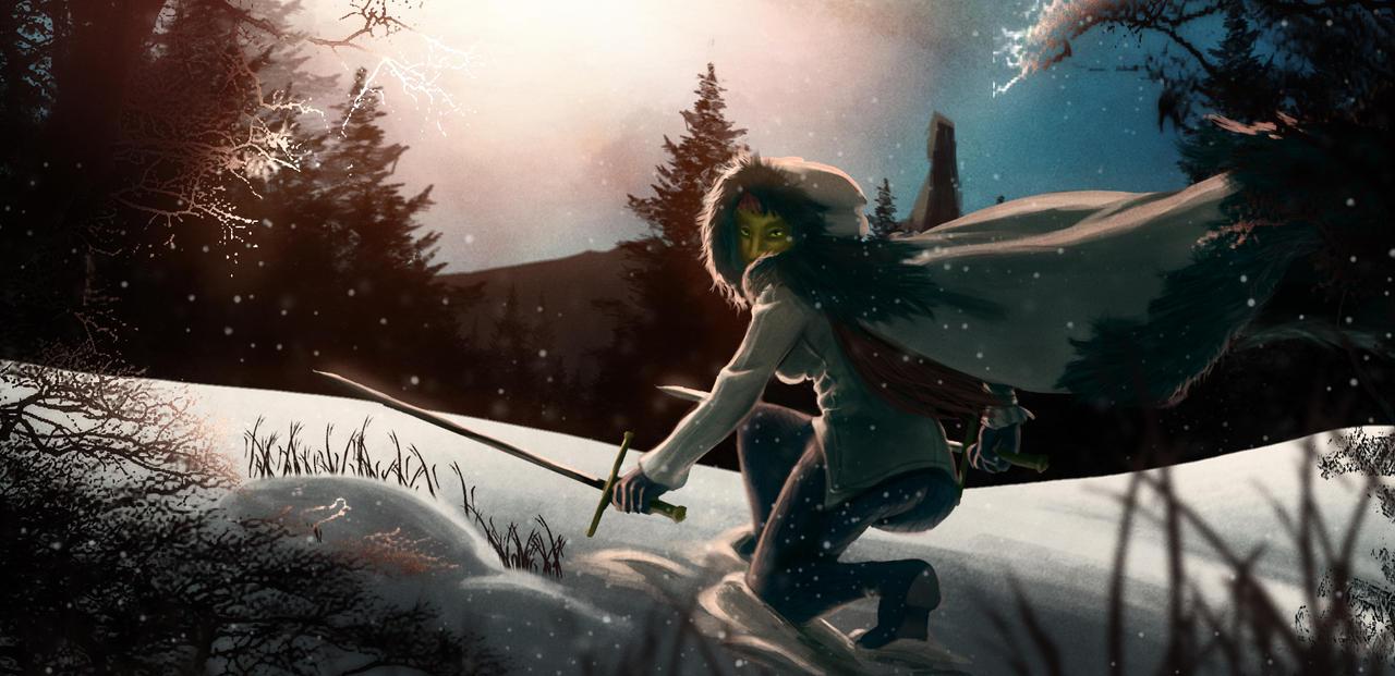 Skyrim - Elf of the North by venominon