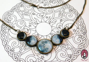 Phase of the Moon statement necklace