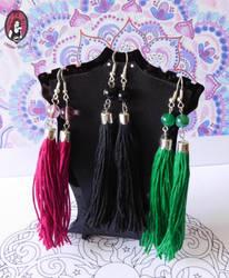 Bohemian earrings by BlitheMagic