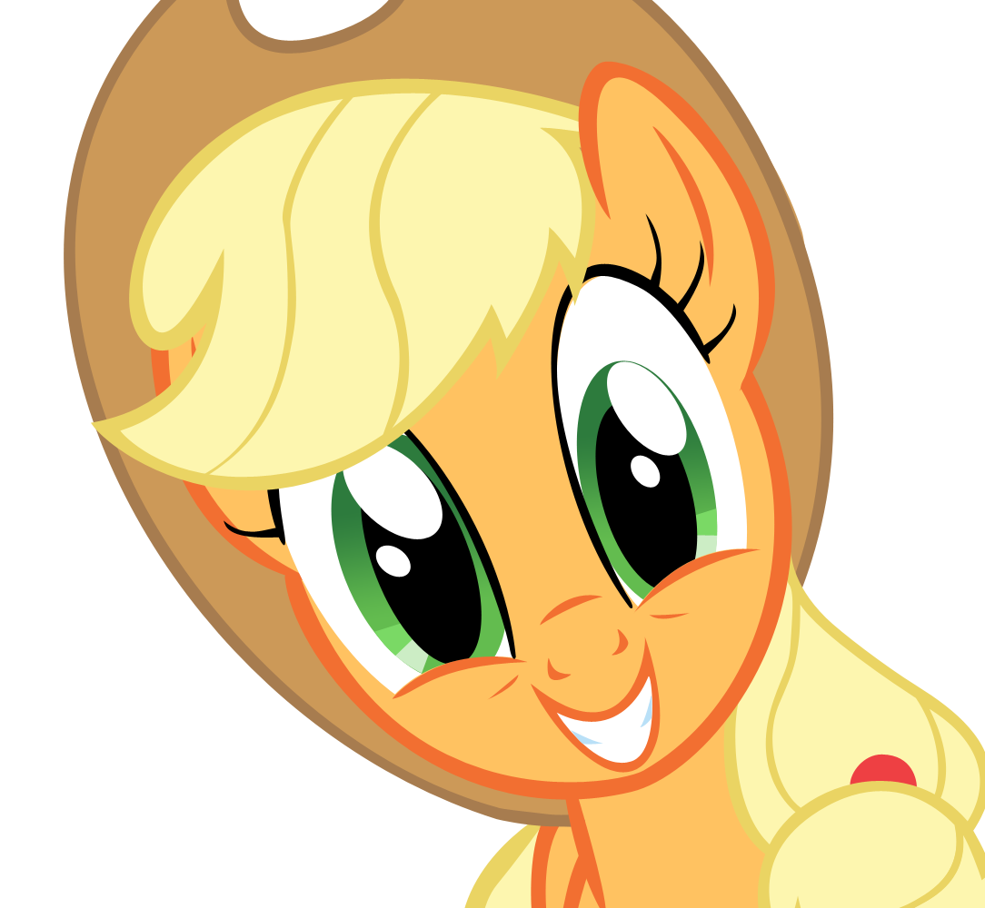 Applejack smile by DrunkHedgehog