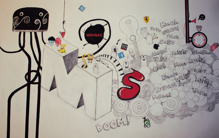 Drawing on the wall of my room full by mohnad on deviantart for Draw my room