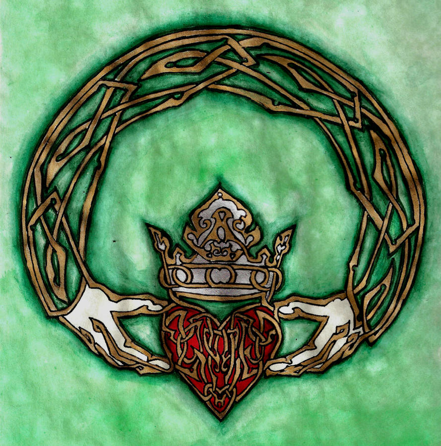 Claddagh watercolor by fulstein on deviantart claddagh watercolor by fulstein buycottarizona Choice Image
