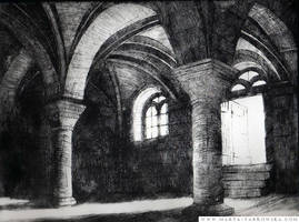 Etching. The interior. by Metulji