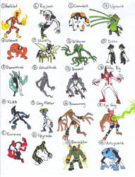 Ben 10 Alien Index 1 by kjmarch
