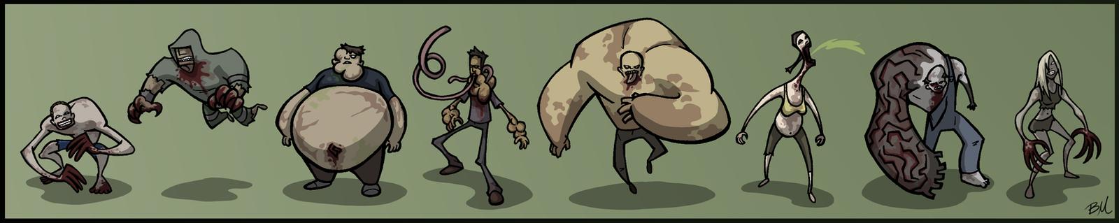 Zombie Ensemble by kjmarch