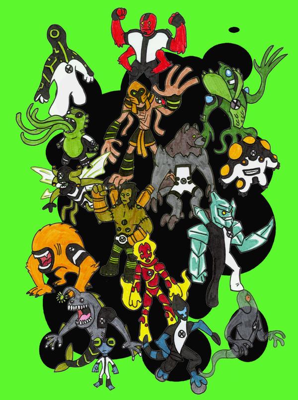 Ben 10 aliens by kjmarch on deviantart - Ben 10 tous les aliens ...