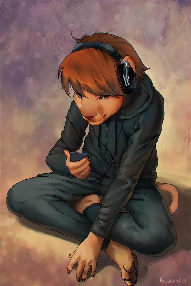 "Caroline ""Oly"" Dason Sitting_and_listening_by_vagabondbastard-d3i52re"