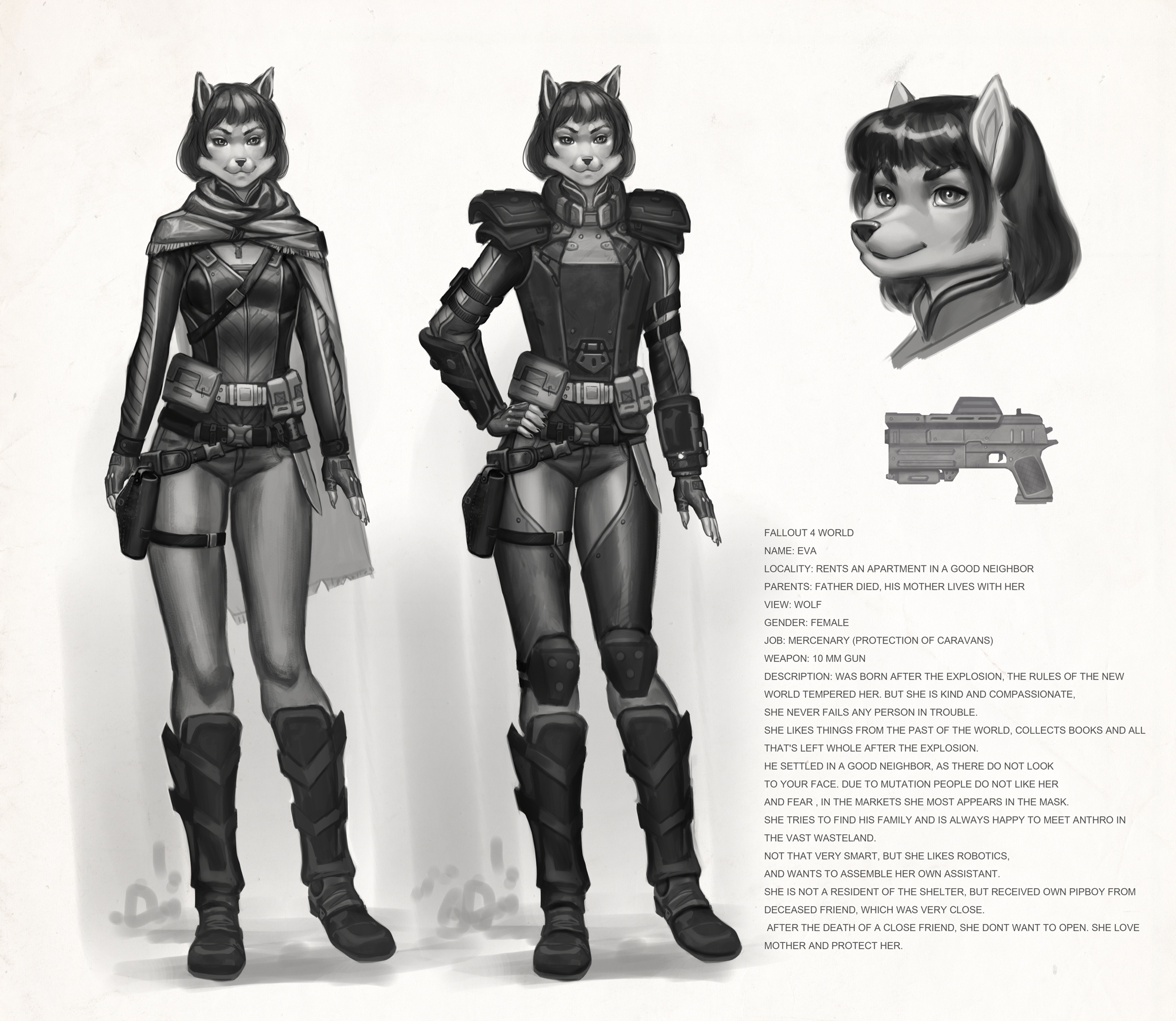 Fallout 4 Character Design Tutorial : Eva fallout fan character wip by vagab nda on deviantart