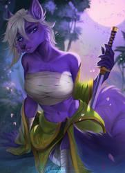 Commish: Astra wolf Samurai