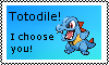 Totodile Stamp by TheDeadlyTwig