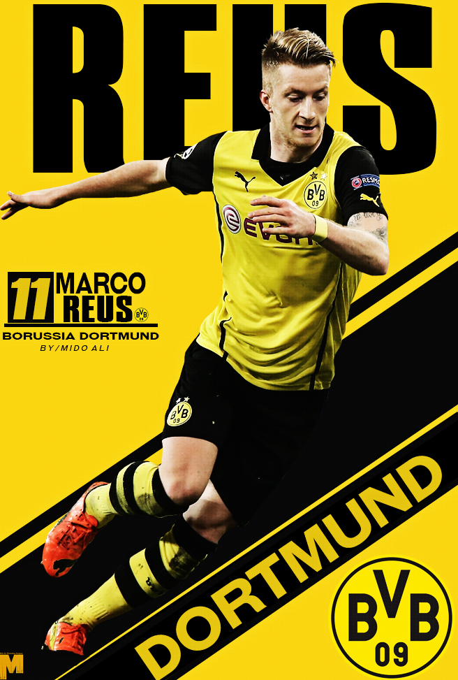 marco reus poster by justcallmemid0oo on deviantart