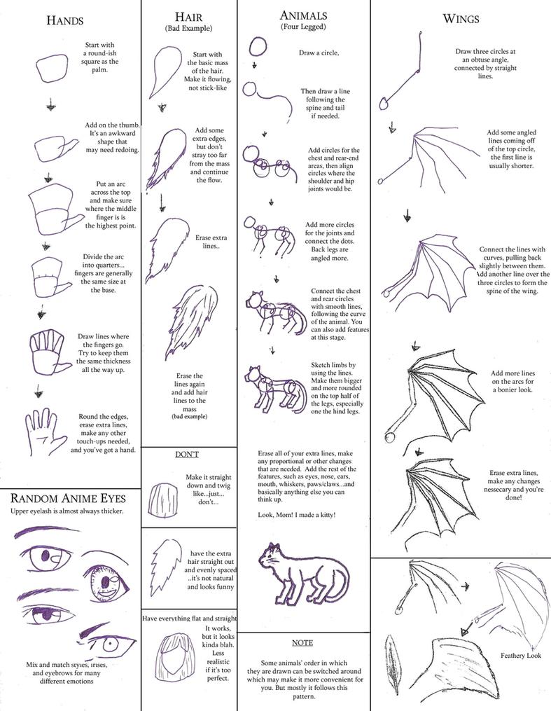 Random Drawing Tutorials By Statickling31 On Deviantart
