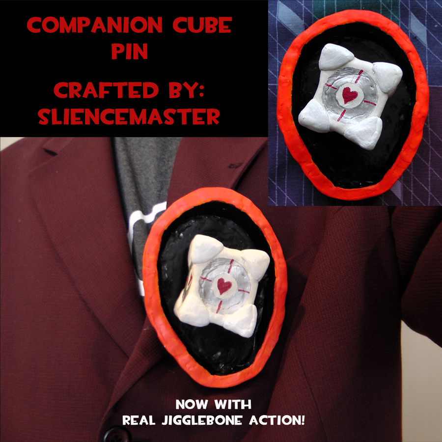 The Companion Cube Pin by SlienceMaster