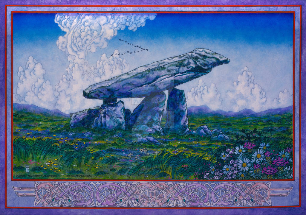 The Kilclooney Dolmen. Celtic Irish Landscape Art by jimfitzpatrick