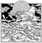 Cu Chulainn. Celtic Irish Fantasy art.