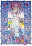 Celtic Irish Fantasy Art. PALU - The Cat Goddess