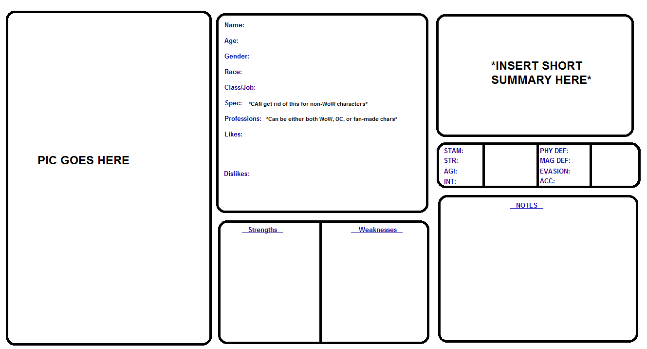 Character Design Template Deviantart : Character sheet template out of darkness