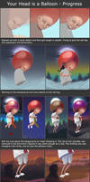 Your Head is a Balloon Process Steps by Neelai