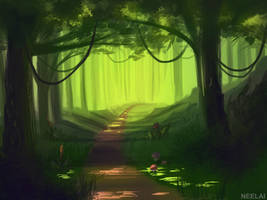 #10 - Forest path by Neelai
